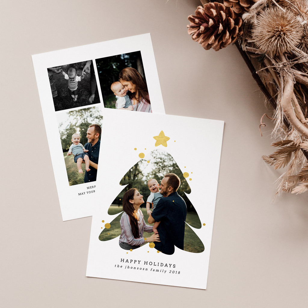 Christmas Tree - Christmas Card-Template-Salsal Design