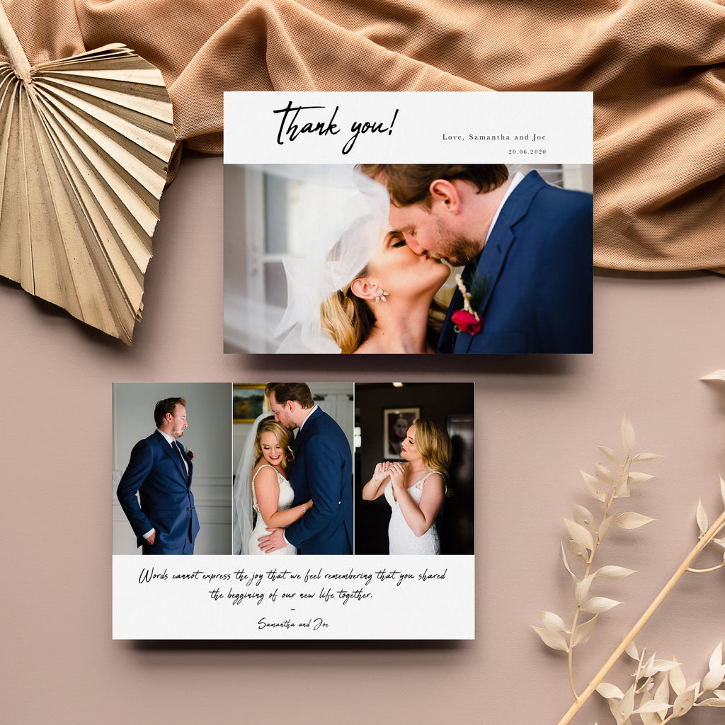 Side By Side  - Wedding Thank You Card - Salsal Design