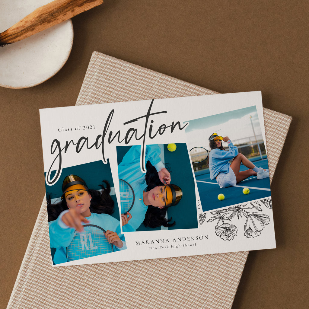 A Simple Collage - Graduation Announcement Template-Template-Salsal Design