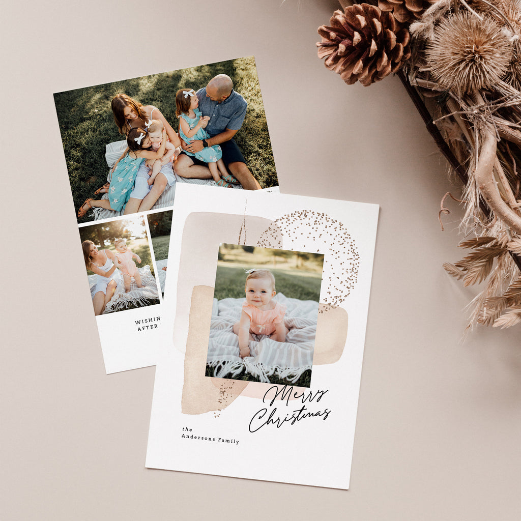 Foil Background - Christmas Card-Template-Salsal Design