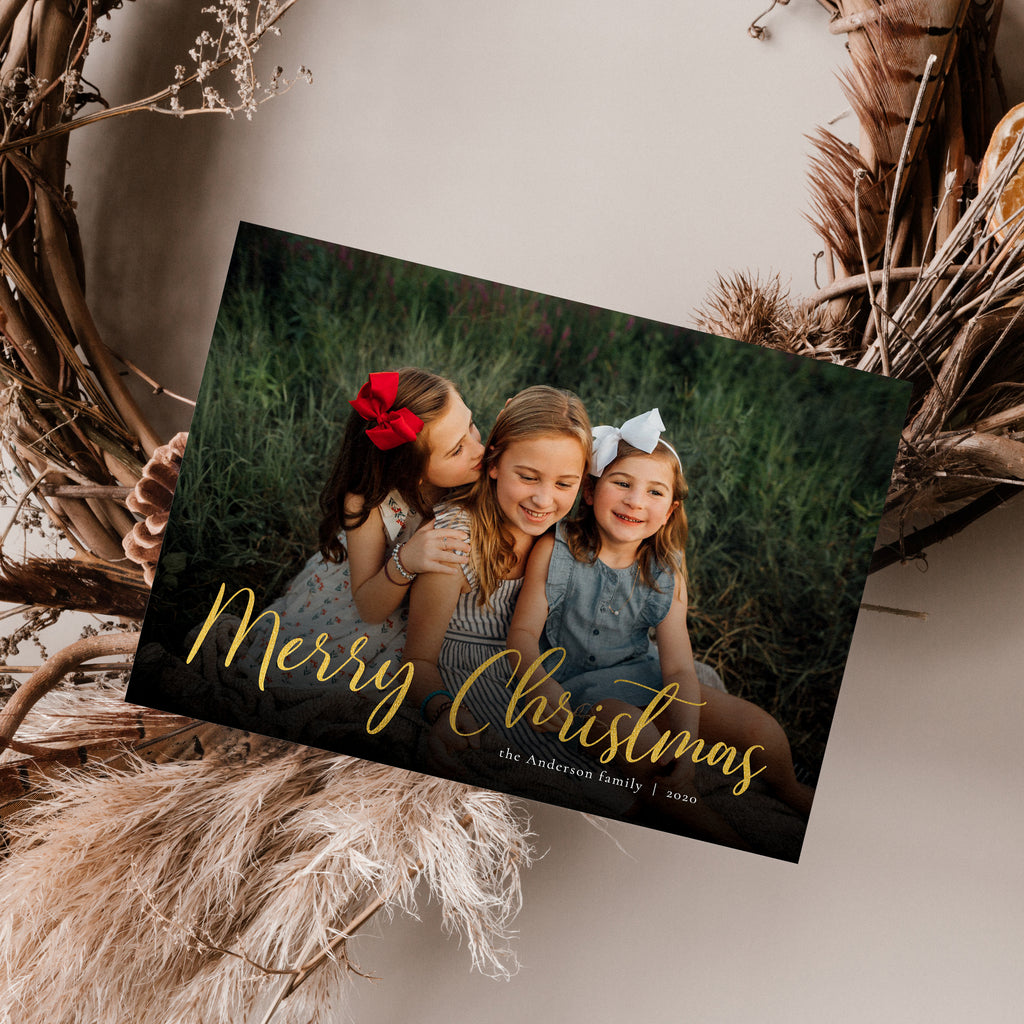 Gold Design - Holiday Card-Template-Salsal Design