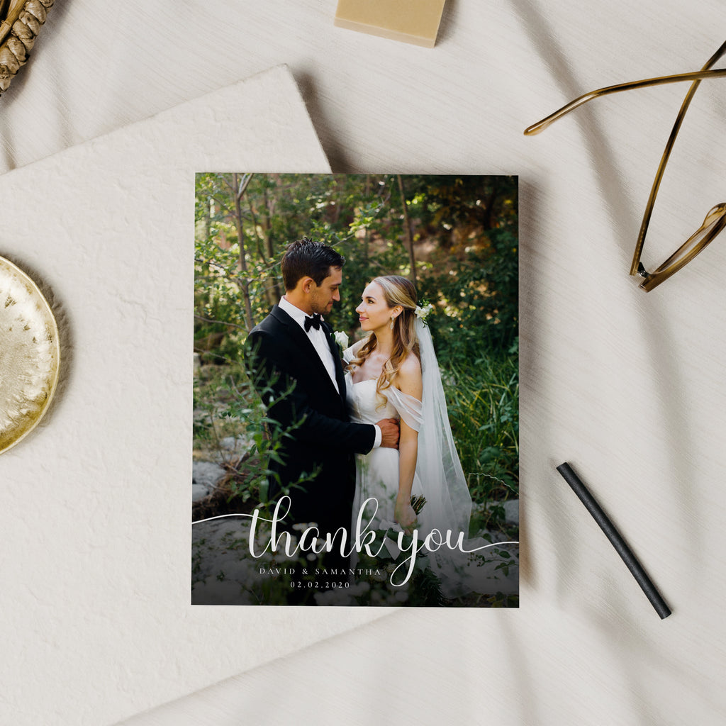 Modern Stamp - Wedding Thank You Card-Template-Salsal Design