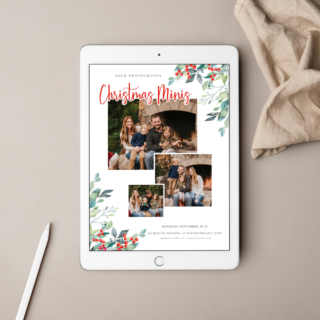 Merrily Bright - Christmas Mini Session Template-Template-Salsal Design