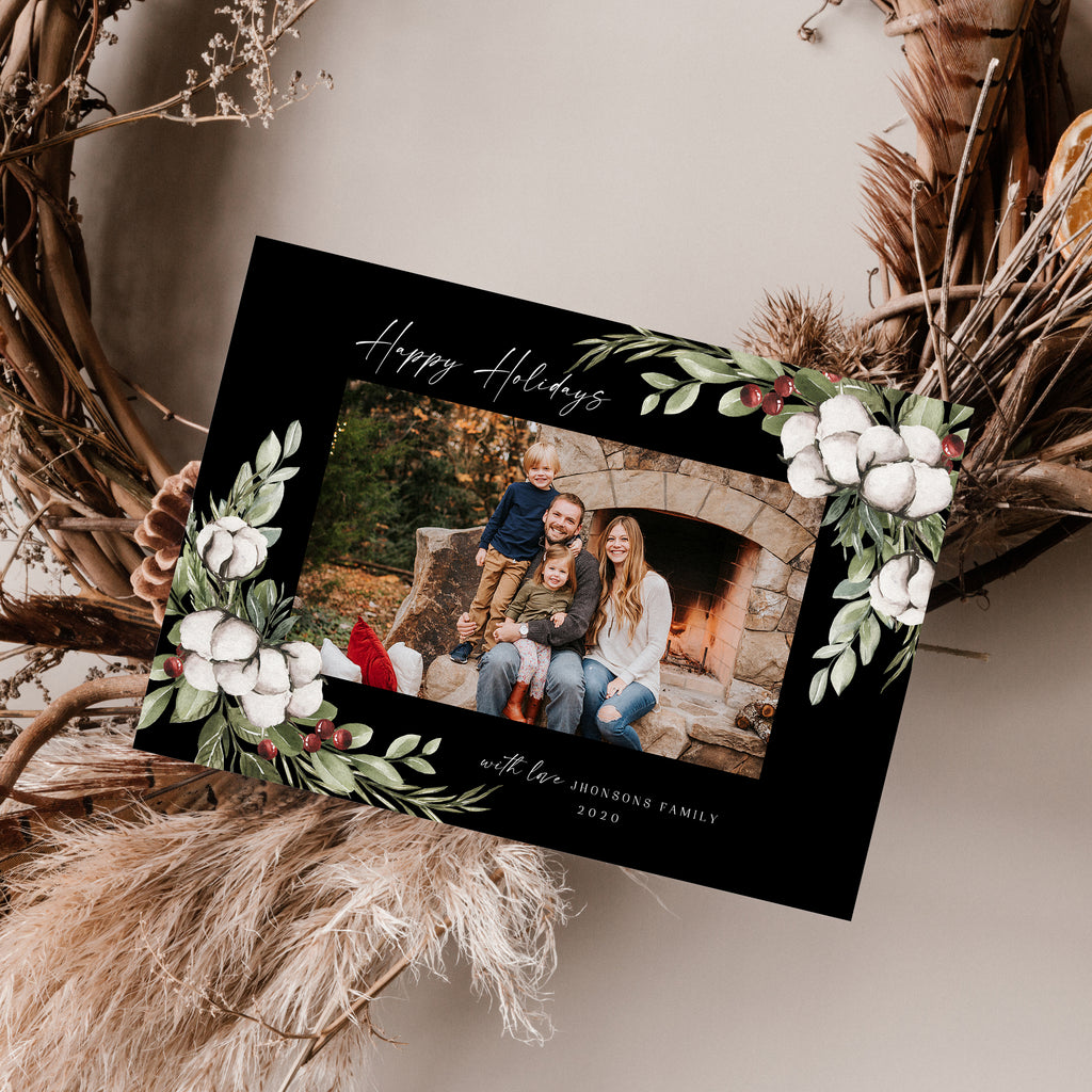 Floral Surround - Holiday Card - Salsal Design