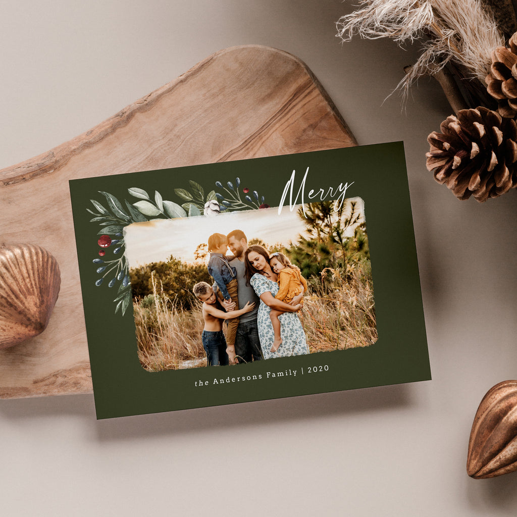 Oh So Merry - Christmas Card-Template-Salsal Design