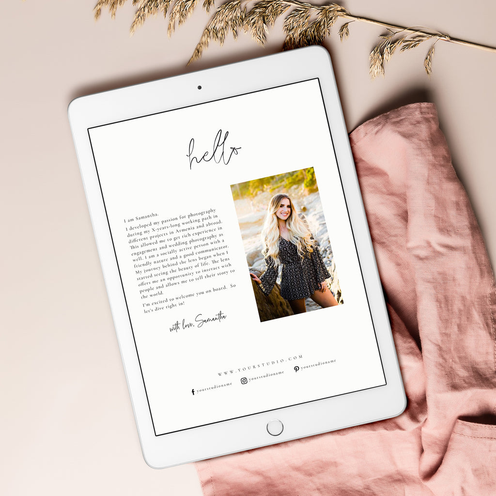 Miami - Engagement Magazine Template - Salsal Design