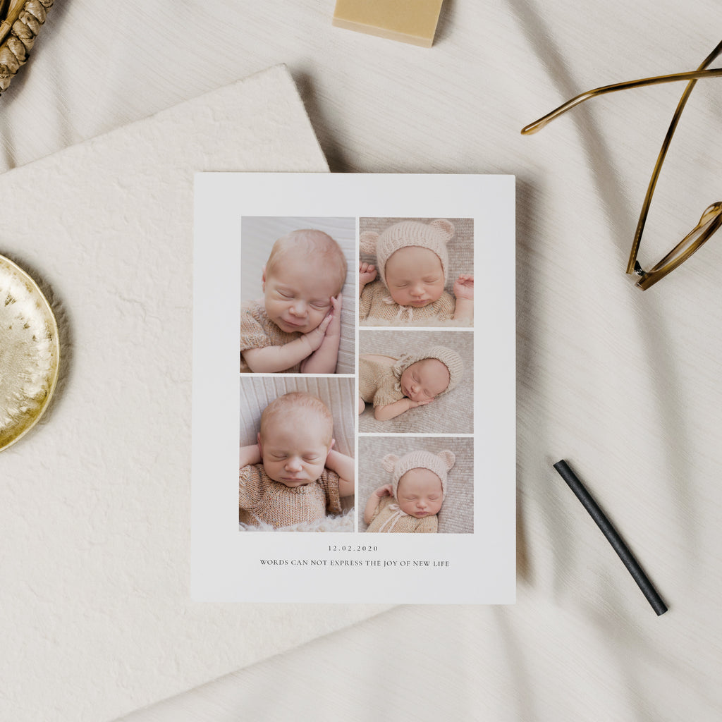 Simple Hello - Birth Announcement Template-Template-Salsal Design
