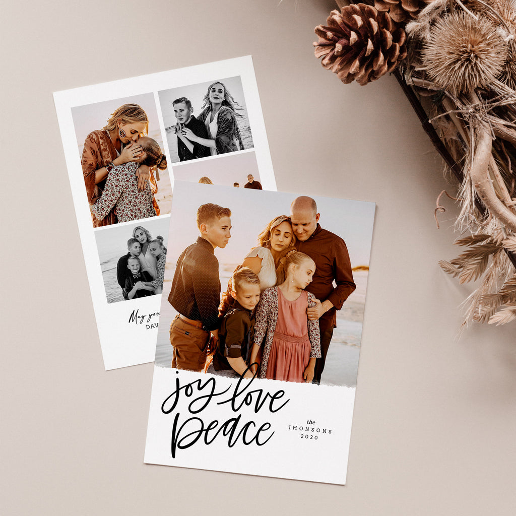Joy, Love & Peace - Christmas Card - Salsal Design