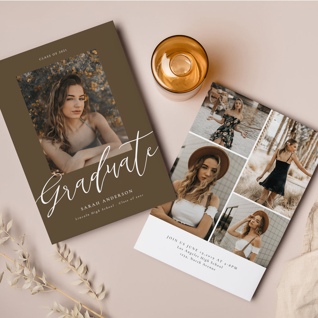 Classic & Bold - Graduation Announcement Template-Template-Salsal Design