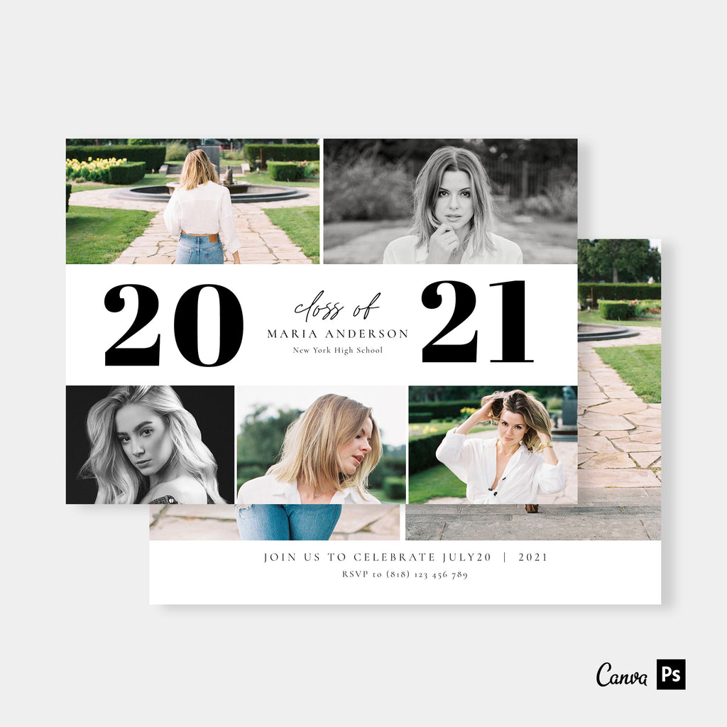 Classic in Black - Graduation Announcement Template-Template-Salsal Design