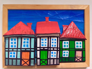 Tudor Style Houses of Copenhagen in Wood Frame with Foot