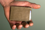 Minimalist Wallet | Front Pocket Wallet | Credit Card Holder | Brown Slim Wallet | Vegan Wallet | Slim Wallet with Coin Pocket | Men's Gift
