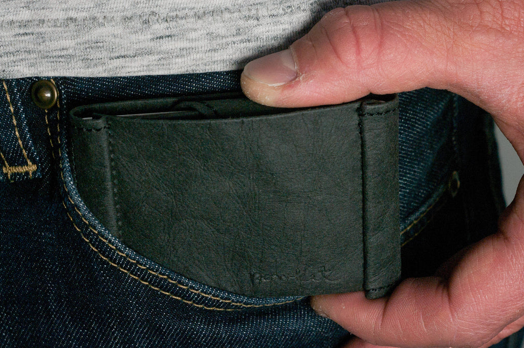 Slim Wallet (Black Front Pocket Wallet, Minimalist Wallet with Coin Pocket, Mini Wallet, Mens Card Holder, Thin Wallet)