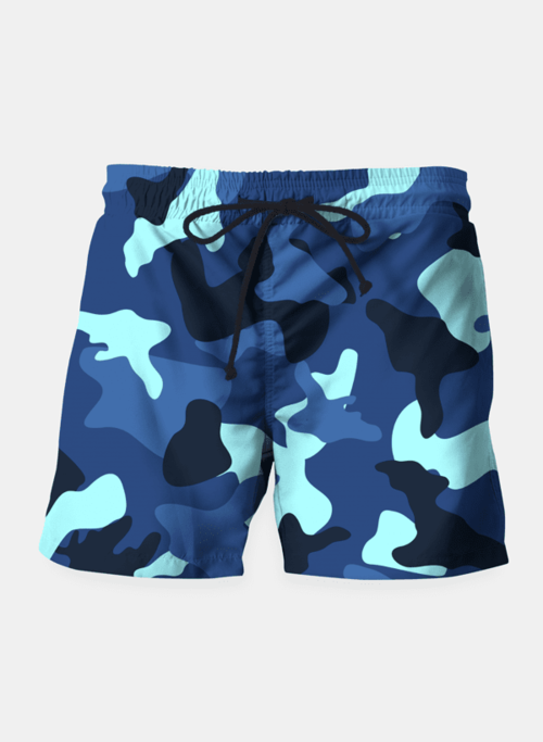 Blue camo camouflage pattern Shorts - Only Real Adventure - Outdoor Apparel, Gear & Tech