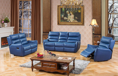 Isabella Blue Recliner Collection