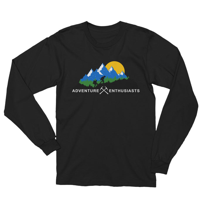 Adventure Enthusiast's Mountain Unisex Longsleeve Shirt