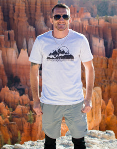 """Mountain Adventure"" Black Unisex T- Shirts"