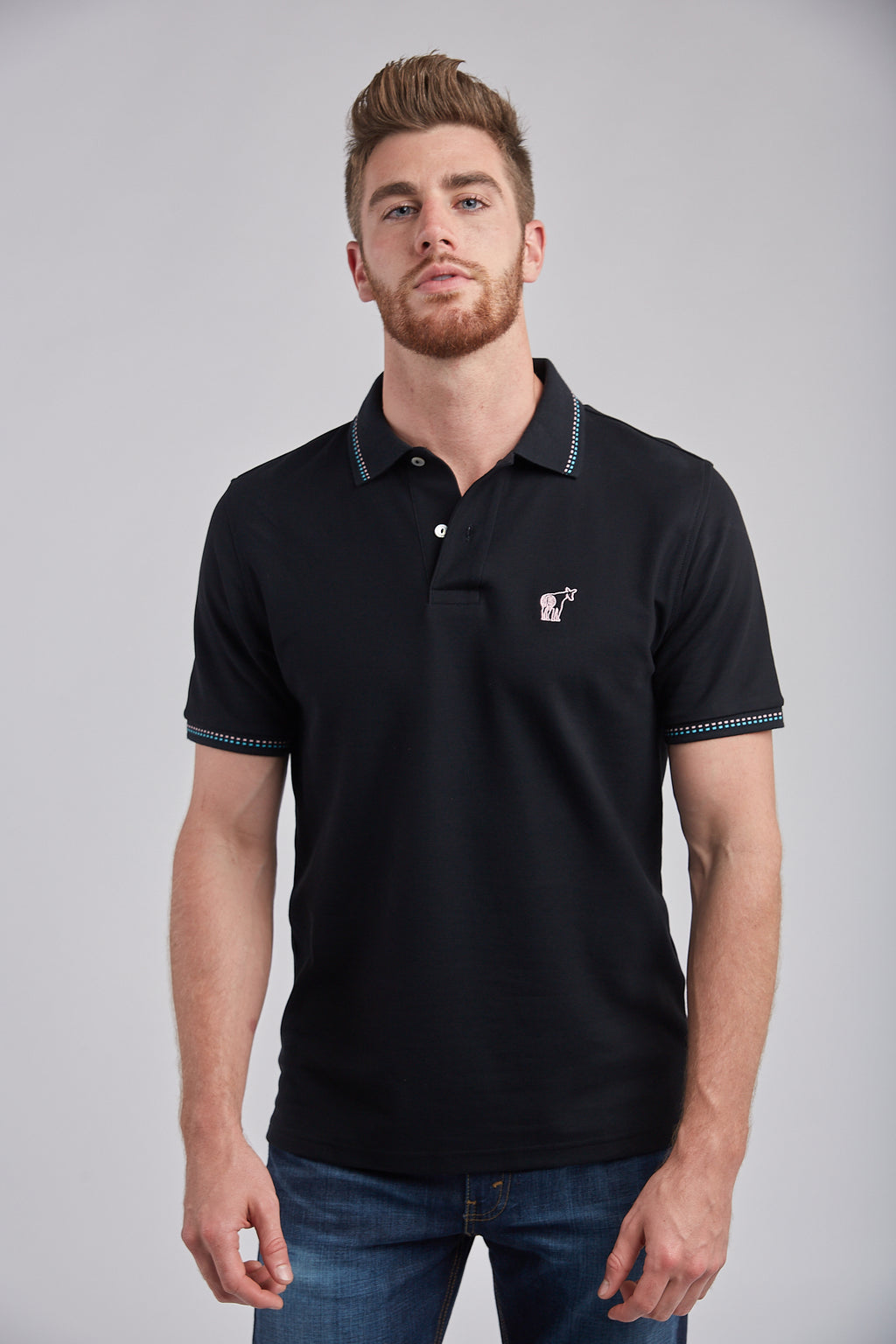 Polo Damier - Arctic Black
