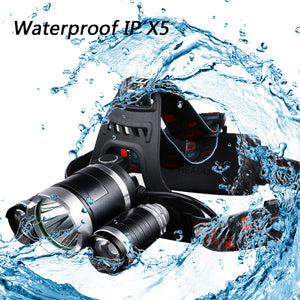 Headlight 9000Lm 3 LED XML T6/2R5 Waterproof