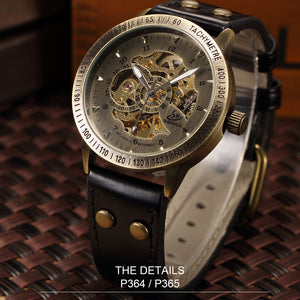 Automatic Mechanical Steampunk Skeleton Watches