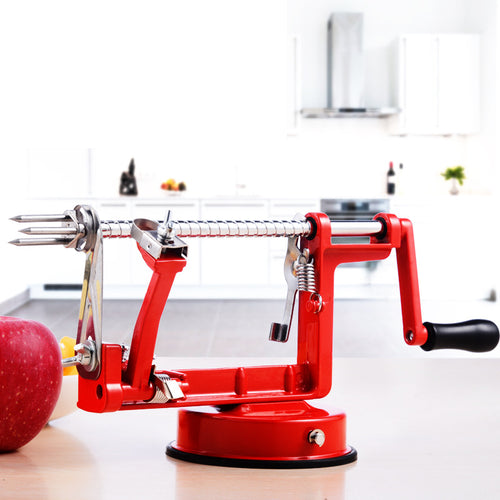 3 in 1 Fruit Apple Peeler Slicing Machine Stainless Steel Blade Iron Body