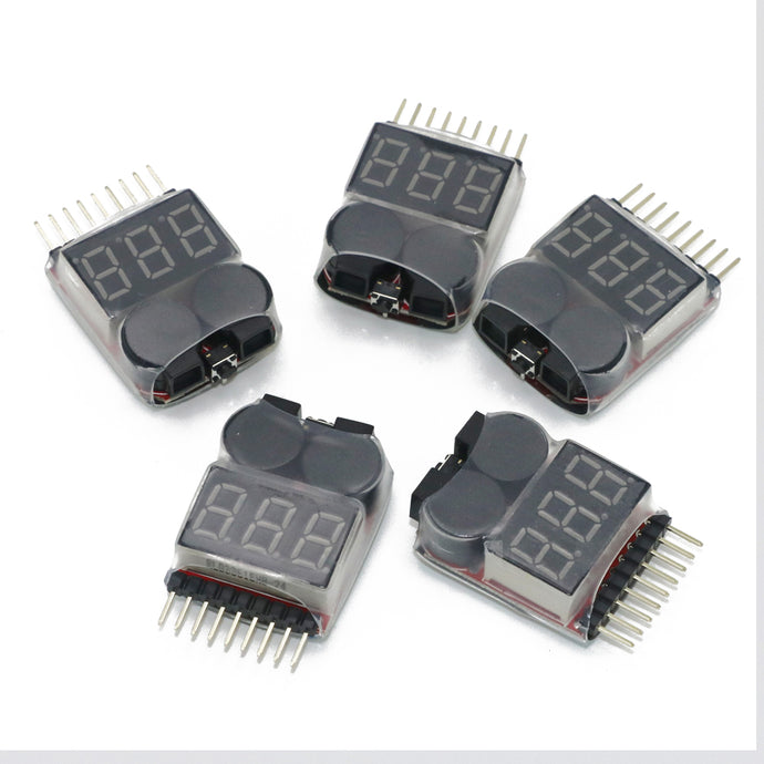 Lipo Battery Voltage Tester 5pcs/lot w. buzzer Alarm 1-8s3.7V-22.2V