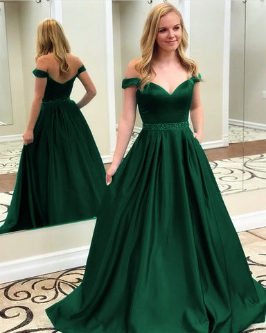 Image of Evening-Dresses-Green