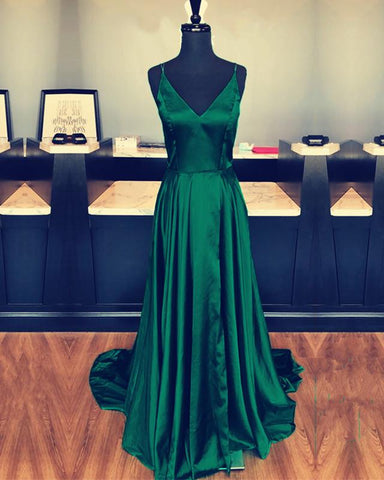 Image of Long-Green-Prom-Dresses
