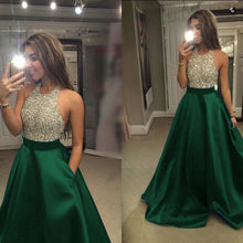 Load image into Gallery viewer, Green-Evening-Dresses