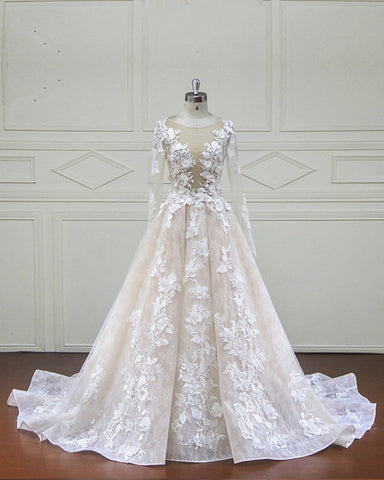 Image of Wedding-Dresses-Long-Sleeves