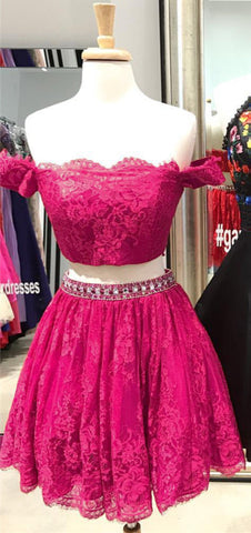Image of Fuchsia-Homecoming-Dresses
