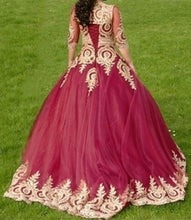 Load image into Gallery viewer, Romantic-Wedding-Dresses-Ball-Gowns-With-Sleeves