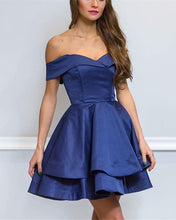 Afbeelding in Gallery-weergave laden, Navy-Blue-Prom-Dresses-Short-Mini-Cocktail-Dress