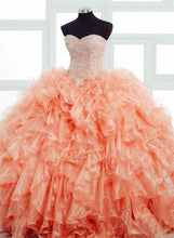 Afbeelding in Gallery-weergave laden, Quinceanera-Dress-Coral
