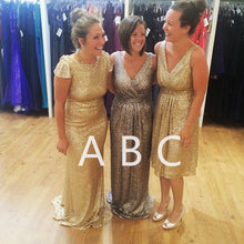 Load image into Gallery viewer, modern bridesmaid dress,glitter dress,sequins gowns