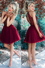 Load image into Gallery viewer, Burgundy Homecoming Dress