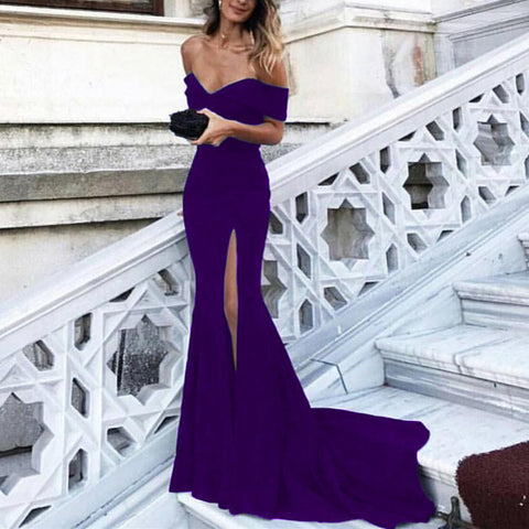 Image of Purple-Evening-Gowns