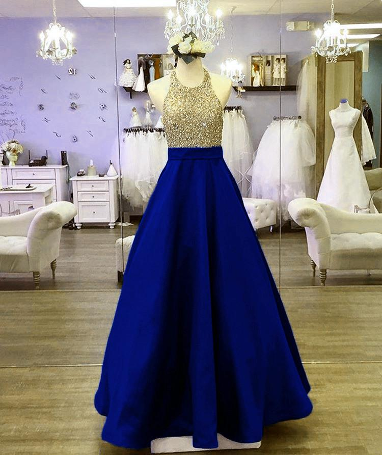 Royal Blue Formal-Gowns