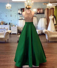 Load image into Gallery viewer, Bud-Green-Prom-Dresses
