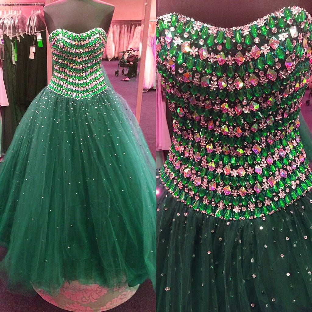 sparkly crystal beaded sweetheart ball gowns quinceanera dresses 2017