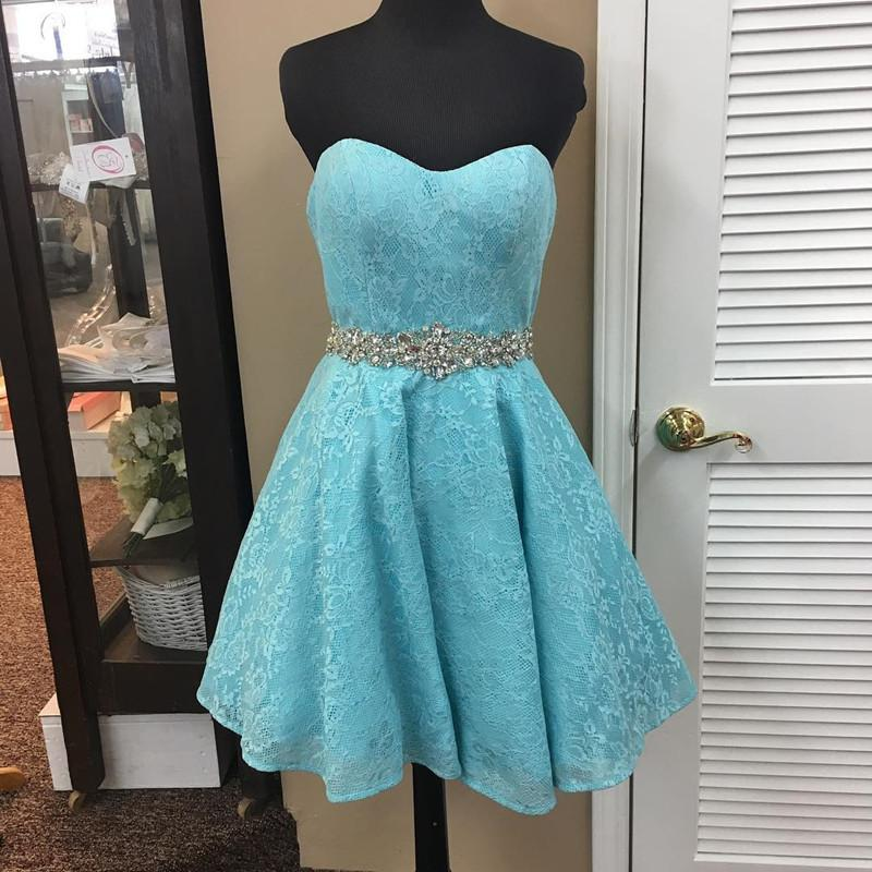 elegant crystal bead sashes sweetheart lace prom homecoming dresses short