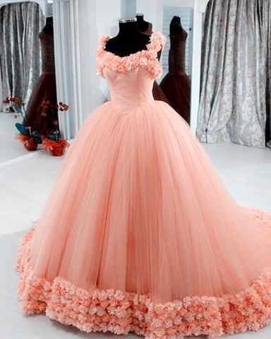Image of coral wedding dresses
