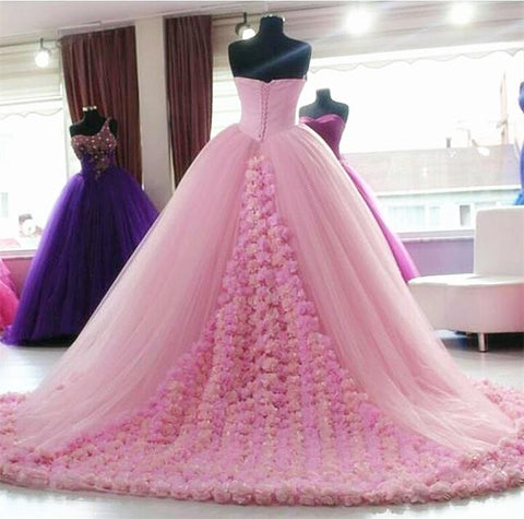 Image of floral quinceanera dresses