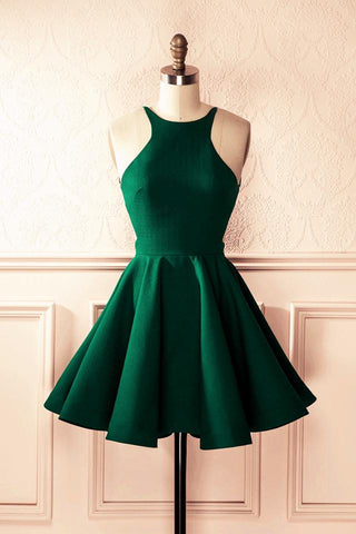 Image of Emerald-Green-Cocktail-Dresses-Short-Party-Dresses