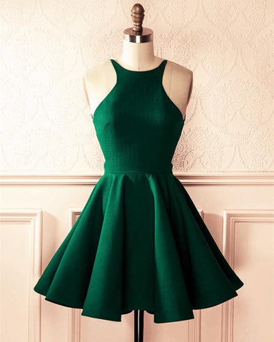 Image of Emerald-Green-Homecoming-Dresses-Short-Prom-Dresses