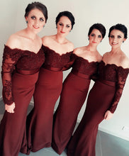 Load image into Gallery viewer, Sleeved-Bridesmaid-Dresses