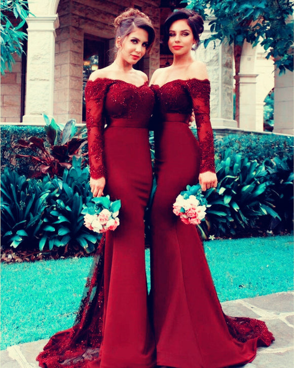 burgundy-bridesmaid-ideas
