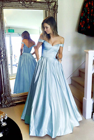 Image of Baby-Blue-Bridesmaid-Dresses