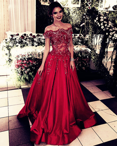 Image of Dark Red Prom Dresses