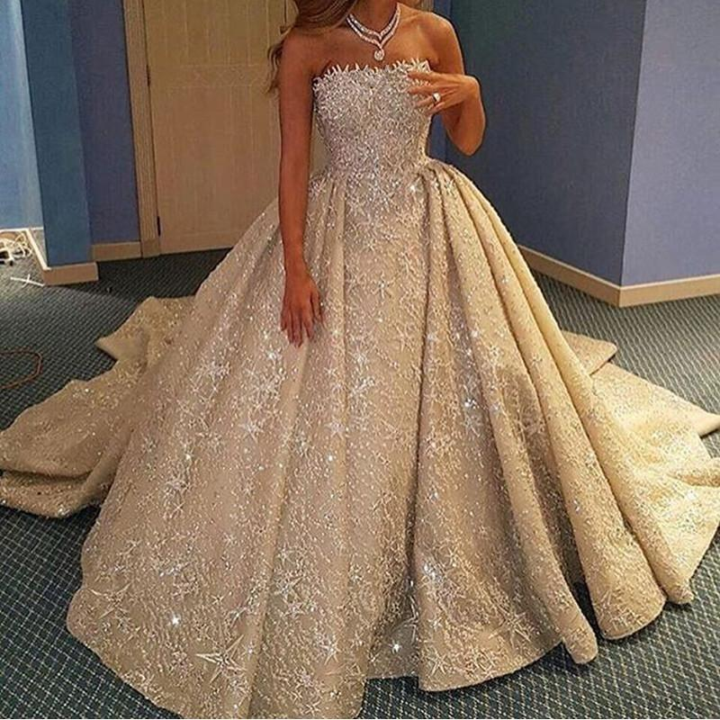 Luxury Lace Wedding Dresses Ball Gowns From Dubai